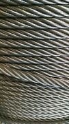 1/2 Bright Wire Rope Steel Cable Iwrc 6x26 750 Feet