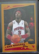 2005-06 Topps Chrome Gold Refractor 70 Ben Wallace No 58 Of 99