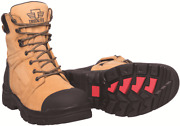 Tredlite Menand039s Stanwell Lace-up Safety Boots Side Zip Wheat-size Au 11 12 Or 13