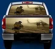 Army Chopper- Tailgate Or Window Truck Tailgate Wrap Vinyl Graphic Decal Wrap