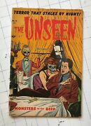 The Unseen 14 Pre-code Horror Terror Monsters Of The Deep Comic Book 1954 Rare