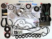Oem Aisin Water Pump Kit W/ Serpentine Belt And Valve Cover Gasket Set For Toyota