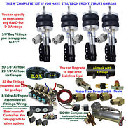 Air Suspension Kit 2004-2007 Audi A-4 Strut Front/struts Rear As Pictured