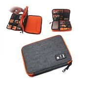 Portable Electronics Carry Case Waterproof Ipad Travel Bag Cable Cord Organizer