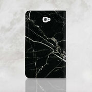 Black Marble Samsung Galaxy Tab A 7 9.7 10.1 Wallet Case Cracked Stone Tab S2 S3