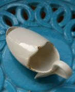 Antique Invalid Feeder Porcelain Pap Boat Cup Medicine Spoon / Signed And Ed.