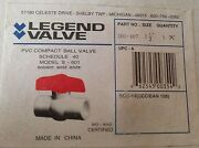 Legend 1 1/2 Pvc Ball Valve 201-407 Solvent Weld Ends New In Box