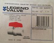 Legend 1 1/4 Pvc Ball Valve 201-406 Solvent Weld Ends New In Box