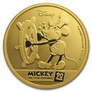 Niue -2018- 1 Oz Gold Proof Coin- Mickey Mouse 90th Anniversary