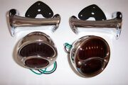 1928-1931 Model A Ford Light Kit Stainless Right Lights With Glass Lens.