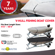 Heavy Duty 100 Solution Dyed Polyester V-hull Fishing Boat Cover