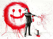 Spray Happiness Red By Mr. Brainwash - Hand Finished Signed Sold Out