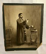 Antique C1910 Magician Three Live Mice Mouse Trap Animal Trick Photo