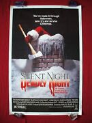 Silent Night Deadly Night 1984 Original Movie Poster Rare Rolled Nss Halloween