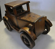 Rare Huge Wooden Vtg. Ford F1 Model T Toy Car Folk Art By Paul March Usa 26