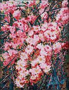 Painting Acrylic On Canvas 24x30cm Natural Flowers With Crystal