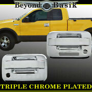 2004-2014 Ford F150 2dr Std/ext Cab Chrome Door Handle Covers W/psk W/keypad