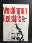 Signed George Preston Marshall Fact Book Autograph Died 1969 Loa Owner Hof Auto