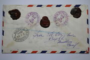 Registered Letter 1938 Burlingame Ca Through Ny To England Airmal A95 Dair143