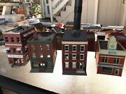 Vintage Ho Train Lot, Buildings, 4 Engines, Cars, Track, Trees, Mountain Tunnel
