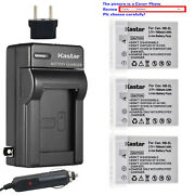 Kastar Battery Travel Charger For Canon Nb-5lh Cb-2lxe Canon Powershot Sd790 Is