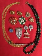 Vintage Costume Jewelry Lot No Markings