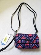 Nwt Vera Bradley Rfid All In One Crossbody Quilted Cotton Wristlet In Mosaic
