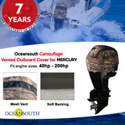 Oceansouth Camouflage Vented / Running Cover For Mercury/mariner Outboards