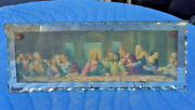 Small Glass/mirror Color Picture Of The Lordand039s Last Supperc 940s-50soriginal