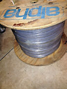 1000 Ft Spool Slate Alpha 5264c Gray Cable Wire 4/pr 24awg 7/32