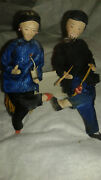Set Of 2 Vintage High Quality Hand Made Dolls Asian Styled