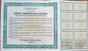 Stock/bond Investment 1930s And039advertisingand039 Certificate - Southern State Bank