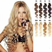 16-30 Wavy Weft Womens Remy Human Hair Extensions Body Tape In Skin 20pcs 50g