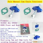 2x Motorcycle Manual Cam Chain Tensioner Adjuster For Suzuki All Sv650/650s Blue