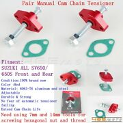 2x Red Manual Cam Chain Tensioner Adjuster For Suzuki Sv650/650s Front And Rear