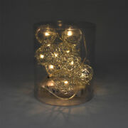 Battery Operated Wire Ball String Led Lights, 3-feet