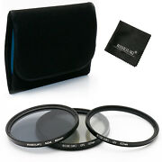 62mm Uv Cpl Nd4 Neutral Density Filter Kits For Nikon Canon Sony Pentax+gift