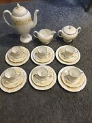Wedgewood Mimosa China Coffee Set Great Condition Very Rareandnbsp
