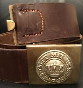 Imperial German,minty Ww1, Unit Marked Prussian Enlisted Man's Belt/m1895 Buckle