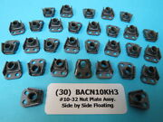 30 10-32 Side By Side Floating Anchor Nutplates Boeing Aircraft P/n Bacn10kh3