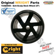 Wright Anti-scalp Deck Wheel 5 For 32 36 48 52 And 61 Mowers / 72490005