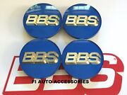 New Real Bbs 70mm Blue Gold 3d Logo 3 Tab Center Caps 56.24.206 Or 56.24.073