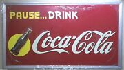 Coca Cola Sunrise Sign Advertising Limited Ed Embossed Tin Coke Wall Decor Sign