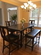 Kitchen Table With 4 Chairs And Bench And Cabinet