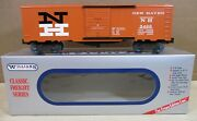 """Williams Trains Freight Car 40' Stock/box Car 21 """"new Haven"""" Orange O Scale New"""
