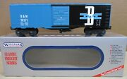"""Williams Trains Freight Car 40' Stock Box Car 86 """"boston And Maine B And G"""" O Scale"""