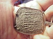 Nice Atocha Shipwreck 8 Reales Silver Mounted Coin Pendant Mexico Mint D Assayer