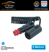 Pro Car Extension Cord Cigarette Lighter 3m Spiral 12-24v 8a Made In Germany