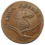 1787 63-s Lg Planchet New Jersey Colonial Copper Coin