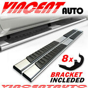 Fit 2019-2021 Chevy Silverado Crew Cab 6 Side Step Running Board Nerf Bar S/s H